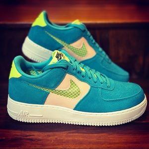 Nike Air Force 1 'Oracle Aqua' Sneakers